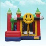 子供のための微笑の表面漫画の膨脹可能な城の膨脹可能なスライドの警備員