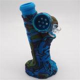 Nouvelle conception de l'impression de gros tuyaux d'herbe de verre de fumer avec du silicone Downstern