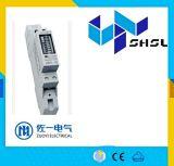 Счетчик энергии цифров Kwh рельса DIN одиночной фазы, метр рельса цифров DIN электричества активно