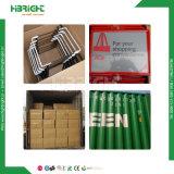 Support en plastique mobile de panier à provisions de fil en métal avec annoncer le clip