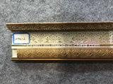 Righe di modellatura di PS di colore dorato e di legno per la decorazione del soffitto