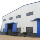 Edificio ligero de la estructura de acero con la ventana del PVC