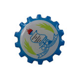 Distintivo a forma di stella di plastica di marchio del metallo del distintivo del distintivo di nome della dogana del LED