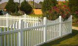 Белая загородка пикетчика PVC