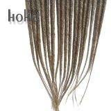 Castanha de 20 polegadas com extremidade simples Dreadlocks Extensão pêlos sintéticos