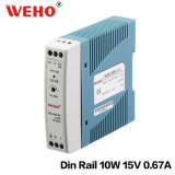 Mini-Stromversorgung der LÄRM Schienen-100% industrielle der Prüfungs-10W 15V 0.67A