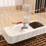 애완 동물 사발, Non-Slip를 가진 분리가능한 스테인리스 개 사발 유출 기초 없음, 작은 매체 Esg10472를 위한 자동적인 물병을%s 가진 애완 동물 먹이 물 사발 지류