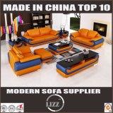 ヨーロッパ式の簡潔な居間の家具の革ソファー