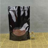 Bolsa de empaquetado del papel de aluminio del bolso del caramelo Ziplock de pie con la cremallera