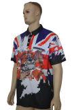 Tous les coins Sublimaiton personnalisé imprimé de polyester Mesh Polo T Shirts