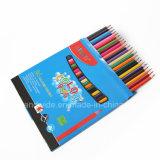 72pcs court de crayons de couleur dans la forme ronde avec aiguisé fin