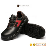 Sapatas de funcionamento de aço de couro pretas da segurança do dedo do pé para homens