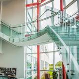 De 12mm Aangemaakte Systemen van uitstekende kwaliteit van het Traliewerk van het Dek van het Glas