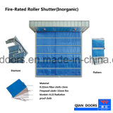 Cortina de fuego de fibra de vidrio cubierta arrollable