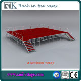 赤い段階のプラットホーム(RK-ASP4X8C)が付いているRkの卸し売り携帯用アルミニウム段階