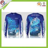 Kundenspezifische lange Hülsen-schnelle trockene Fischen-Hemden