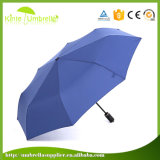 新しいデザインコンパクトのフォールドの傘のための防風の金属フレーム