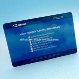 Protector de la tarjeta de crédito Tarjeta de bloqueo anti RFID Skim