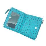 Pochette en cuir d'unité centrale de l'arrivée Lcq-055 de piste d'impression de Madame Purse Women Wallet PU Leather de pochette de pochettes neuves de carte
