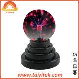 Esfera de cristal Lámpara de rayos parte activa de bola de Plasma de sonido