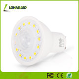 Riflettore astuto inserita/disinserita del sensore di movimento della lampadina PIR di girata automatica LED 5W GU10 LED
