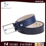 Kundenspezifische Metallfaltenbildung-Firmenzeichen-echte Kuh-Leder-Mann-Riemen