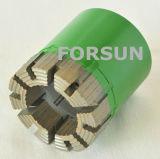 Aq Bq Nq HqのワイヤーラインのためのPqによって浸透させるダイヤモンドの穿孔機ビット