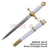 [إيوروبن] فارسة خنجر تاريخيّ خنجر أبيض [36كم] [هك6ف08]