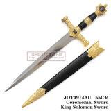 Punhal europeu do cavaleiro da espada pequena de Solomon o punhal histórico 55cm Jot4914su da espada do oficial