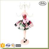 Stand élégant de modèle de bijou de poupée de robe de soirée de présentoir de bijou de mannequin de poupée