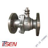 DIN de 2 piezas PN16/25/40/64/100 extremo de la brida Válvula de bola flotante de CF8/CF8m Material