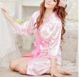 OEMの女性のセクシーな着物のランジェリーの浴衣(53021)