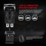5pin Bigfoot 로커 스위치 온-오프 LED 가벼운 20A 12V 빨강