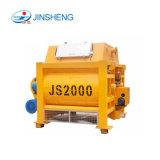 중국 공장 공급 쌍둥이 샤프트 Js2000 구체 믹서 기계