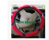 Coperchio del volante dell'automobile del tessuto della pelle scamosciata universale nero/rosso 36/38cm