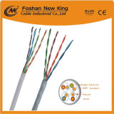 Cable de la red de cable del LAN del ftp Cat5e con la sola envoltura al aire libre para las comunicaciones de Digitaces