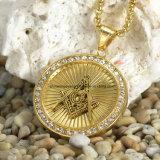 [ستينلسّ ستيل] مجوهرات رجال ورك عقد يصفّى [18ك] نوع ذهب مدلّاة ([سبت6282])