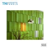 Painel de parede 3D decorativo da fibra de poliéster do painel acústico de Retartant da flama para o cinema