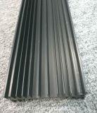 6063 noir en aluminium anodisé mat personnalisés/profil en aluminium extrudé