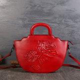 ローズの新しい手塗りの革製バッグ、ショルダー・バッグ