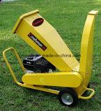 máquina Chipper de madera de la gasolina eléctrica del comienzo de 420cc 15HP, desfibradora de las ramificaciones de árbol