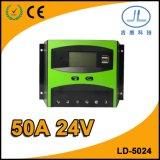 contrôleur solaire de charge de module d'écran LCD de 50A 24V