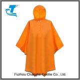 Poncio impermeabile incappucciato della pioggia di colore puro unisex