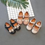 小さい花の子供の学校のウォーキング・シューズを持つGirls Single Shoes甘い王女