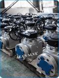 Montado en el muñón de entrada superior china fabricante de la válvula de bola