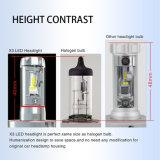 Faro di angolo a fascio del kit 6000lm 55W 360 di conversione delle lampadine del faro 12V 24V H4 LED