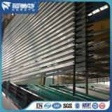 커튼 궤도 /Rail /Pole를 위한 공장 OEM 6063t5 매트 청동색 알루미늄 단면도