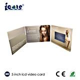 5.0 '' LCD que anunciam o tamanho video de papel do cartão A4 A5 da dobra do jogador três
