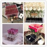Rectángulo de regalo de acrílico de la flor con el cajón del chocolate o de la joyería