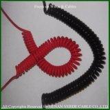 PU PURのコイル状ケーブルの螺線形ワイヤー